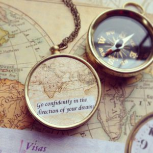 Compass with a quote