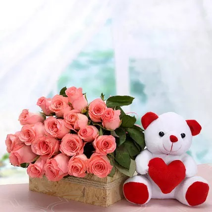 Roses with Teddy