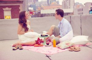 A rooftop picnic