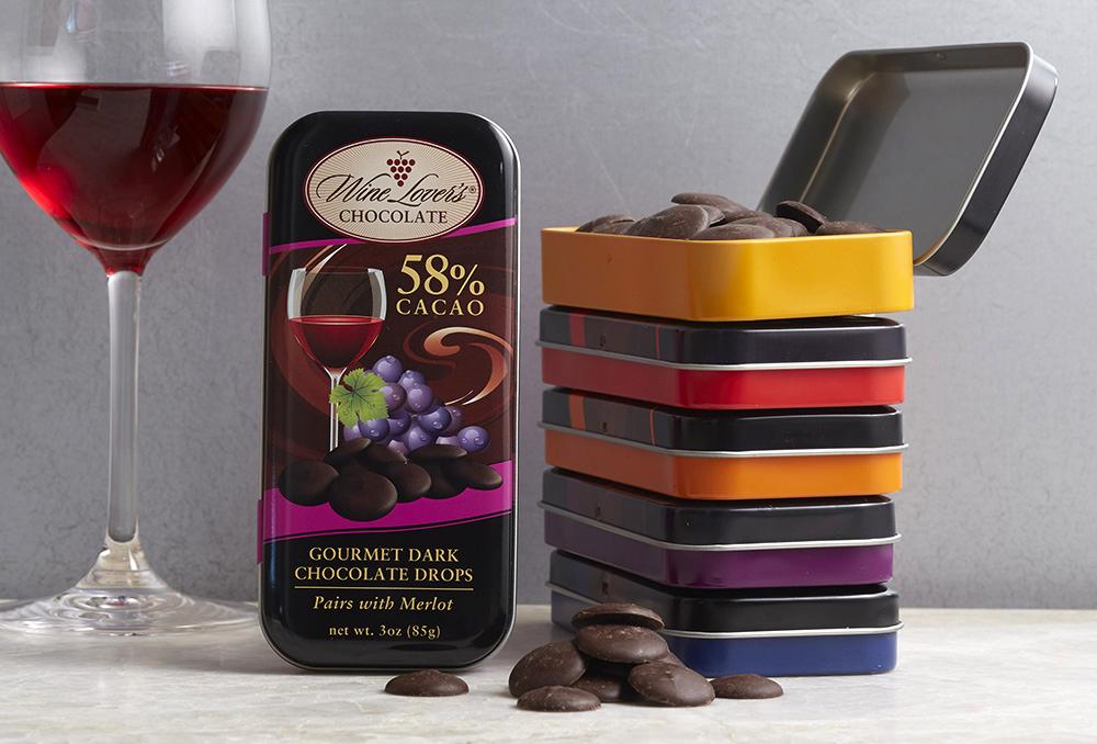 Dark Chocolate with wine