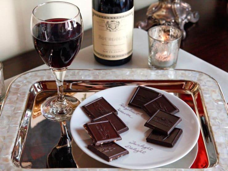 Hazelnut Chocolate with wine