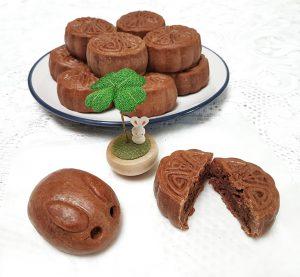 Coffee and Chocolate Lava mooncakes